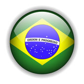 Fotografie Brazil flag button, vector