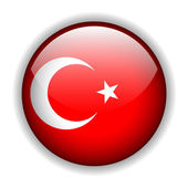 Fotografie Turkey flag button, vector