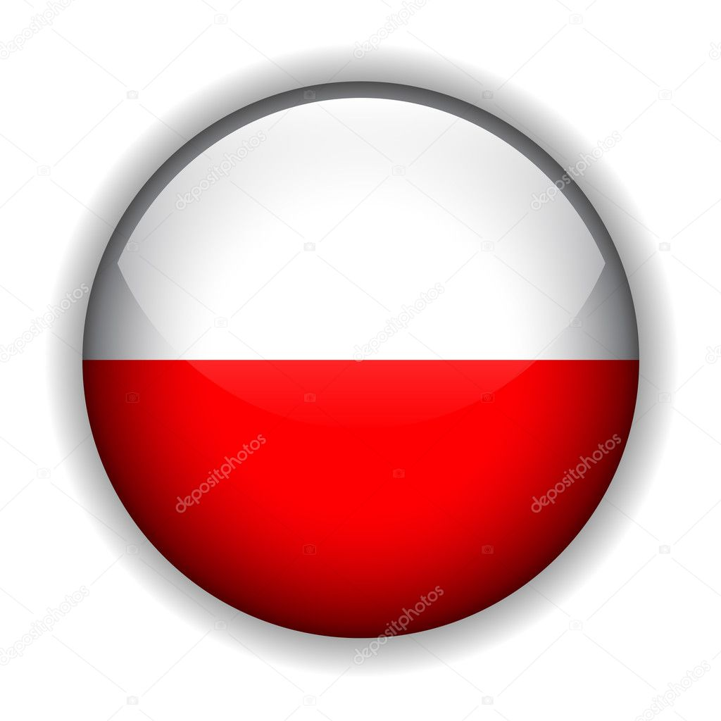 Poland flag button, vector ⬇ Vector Image by © cobalt88 | Vector Stock  2128364