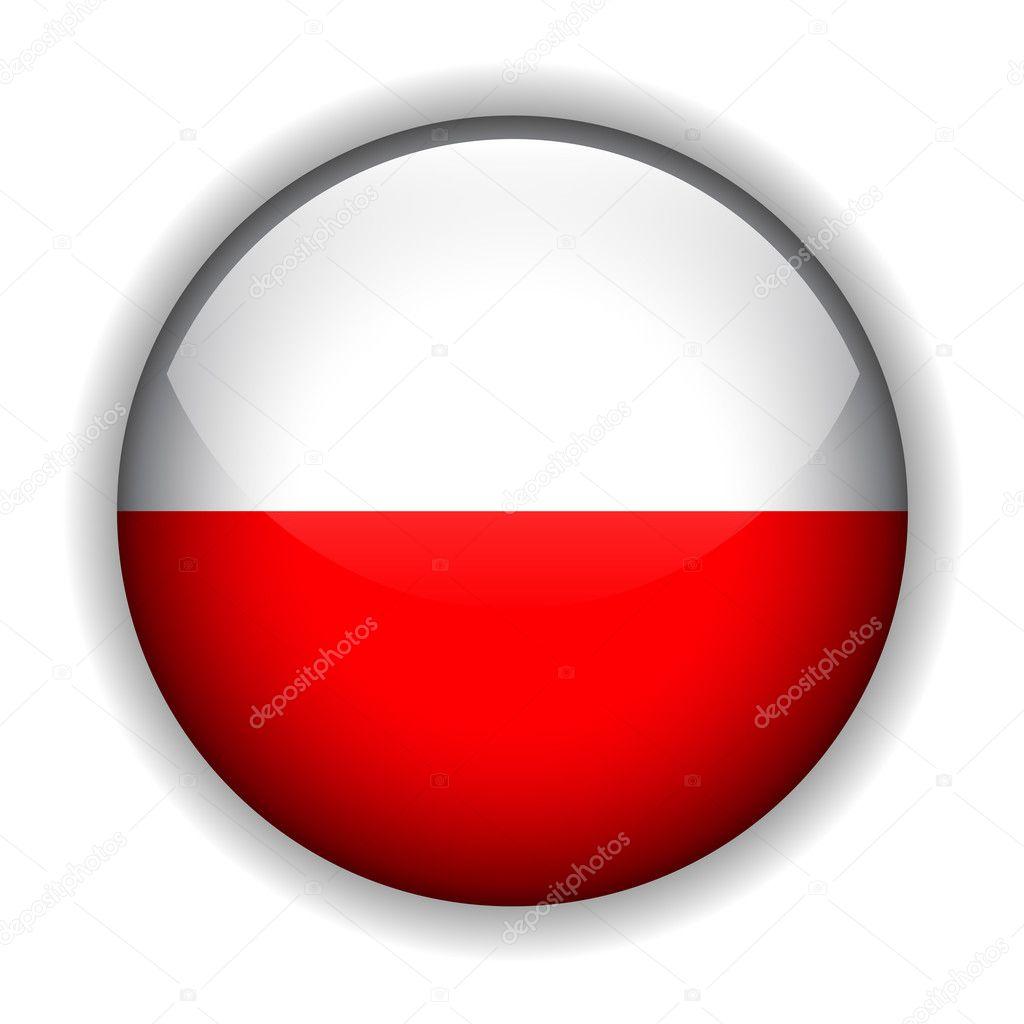 Poland flag button, vector ⬇ Vector Image by © cobalt88 | Vector Stock  2128364