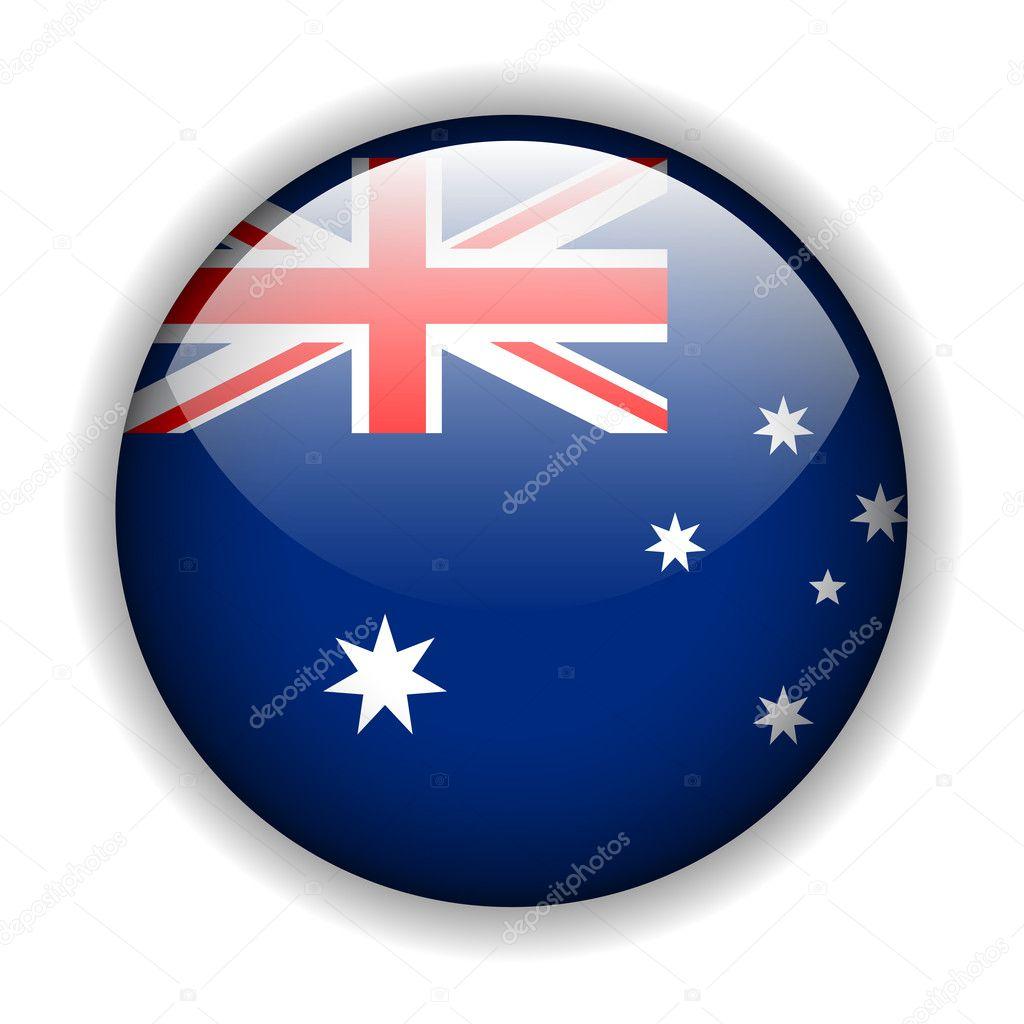 australia flag button vector u2014 stock vector cobalt88 2175661