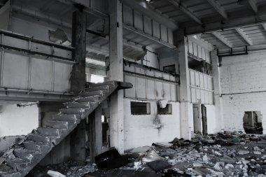 Ruined building interior