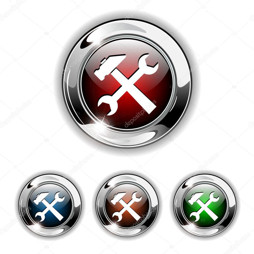 Icono configuraci n bot n vector vector de stock for Icono boton