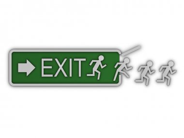 Exit sign front