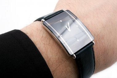 Watch on man's hand