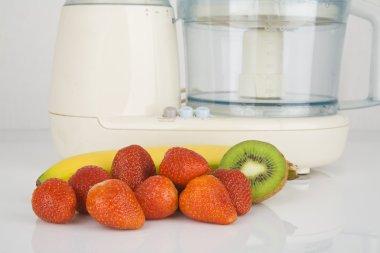 Fresh fruits ready to chop