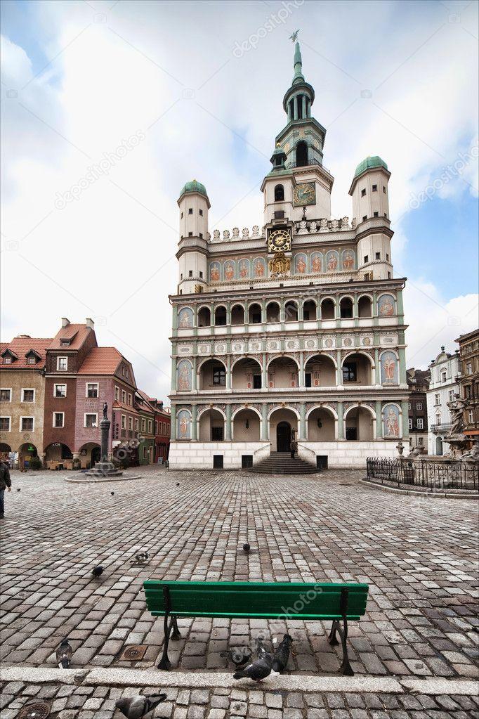 Фотообои Old town hall in Poznan