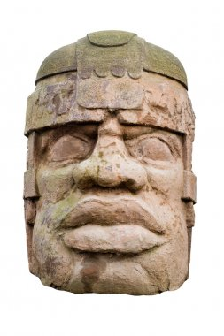 Ancient olmec head