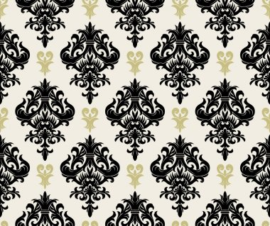 Seamless background from a floral ornament, Fashionable modern wallpaper or textile stock vector