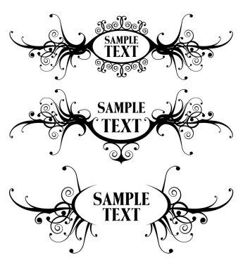 Floral design frames