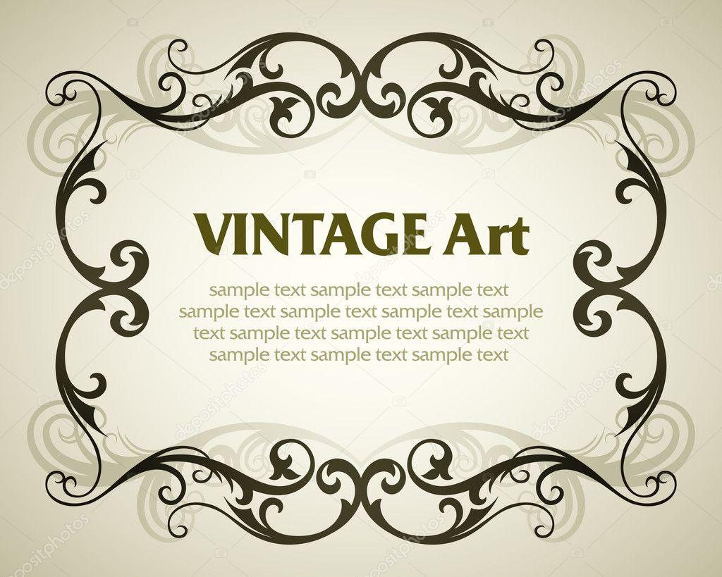Vintage Vorlage Rahmen — Stockvektor © sanyal #2032556