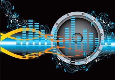 Music blue illustration vector stock vector