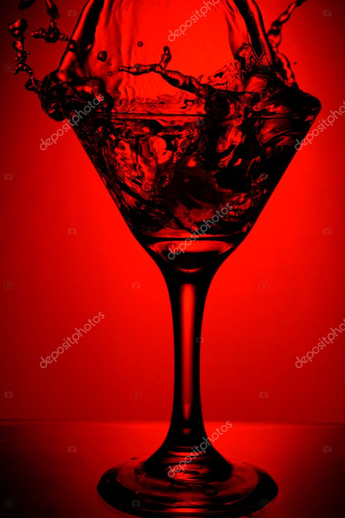 Red martini splash
