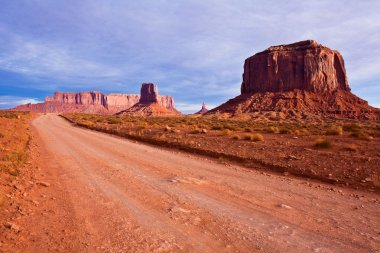 Desert Road in Monument Valley