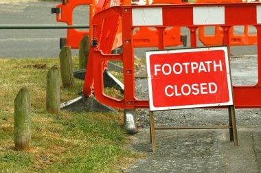 Pavement closed