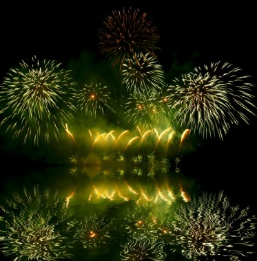 Fireworks (salute) and reflection
