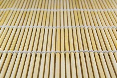 Japanese bamboo sushi mat texture