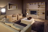 Photo Elegant and luxury living room interior