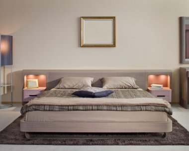 Elegant and luxury bedroom interior.