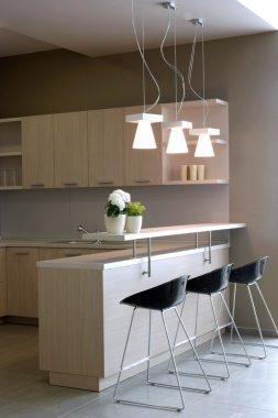 Elegant and luxury kitchen interior.