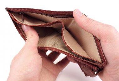 Empty wallet. Crisis concept.