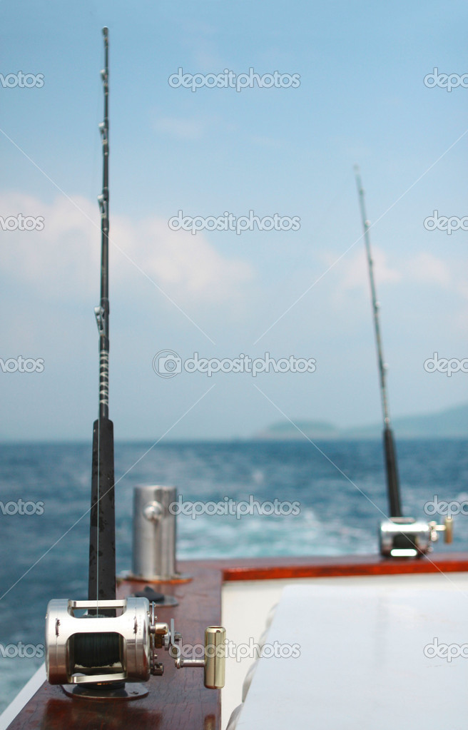 Fishing rods and bollard