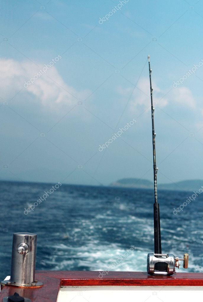 Fishing rod and bollard