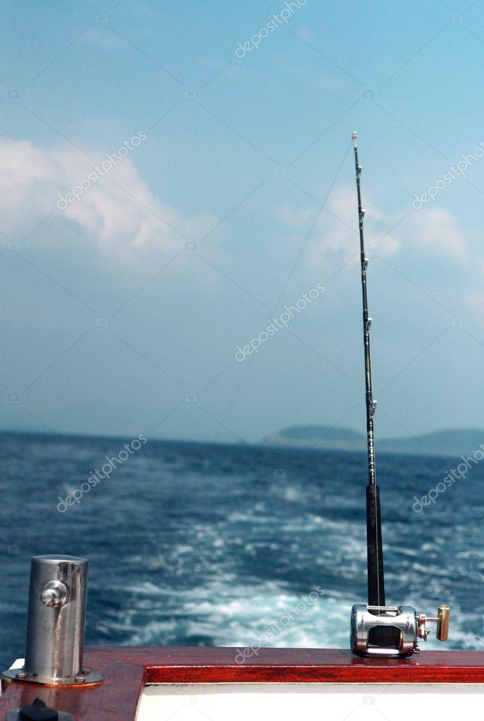 Fishing rod and bollard