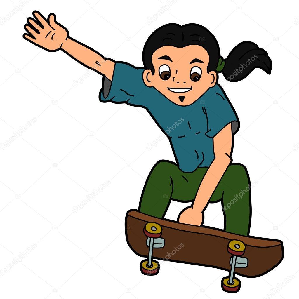 desenho de skatista de salto vetor de stock maxiharmony 2023682