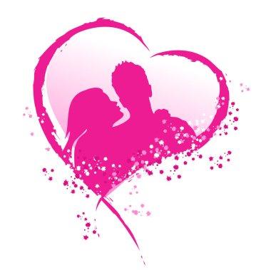 Symbolic representation of love. In love couple. clip art vector