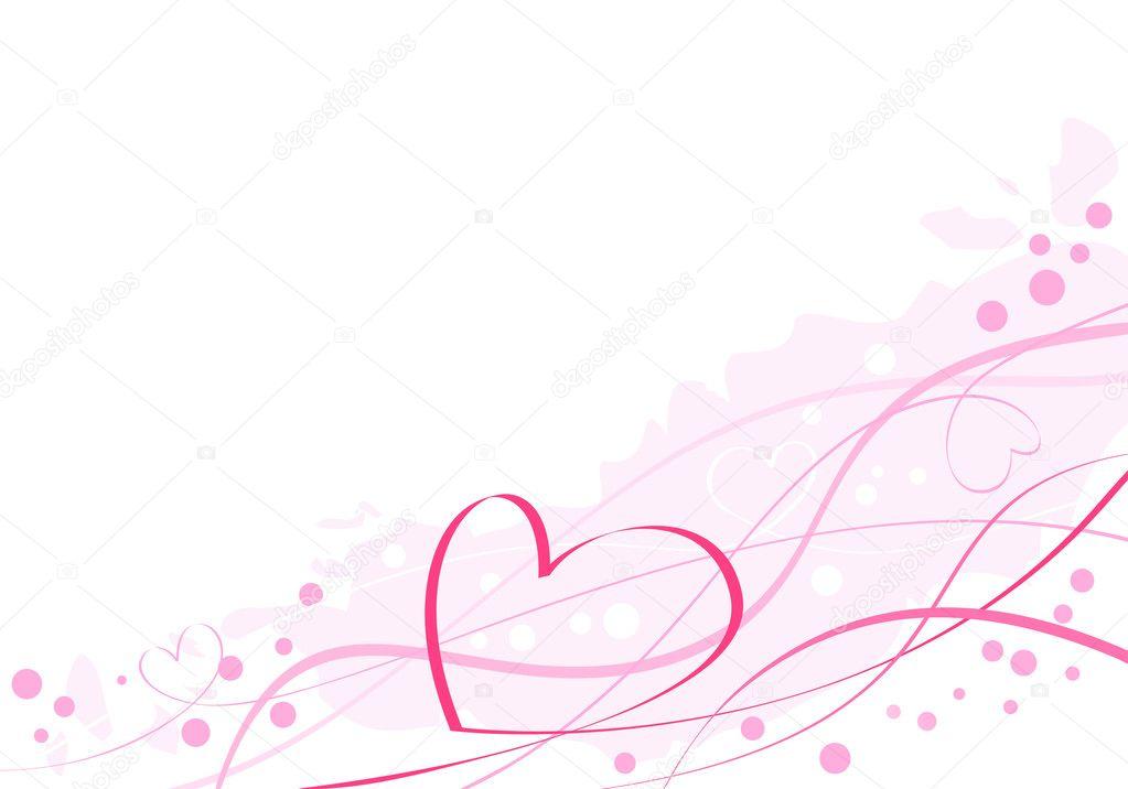 Artistic pink heart