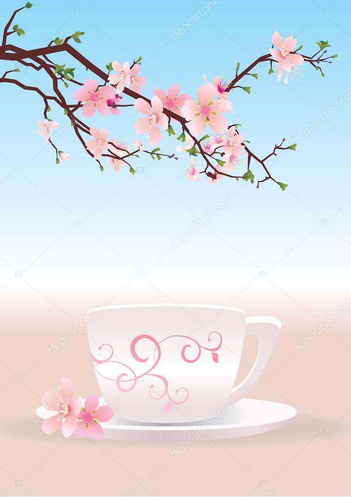 Coffee and sakura