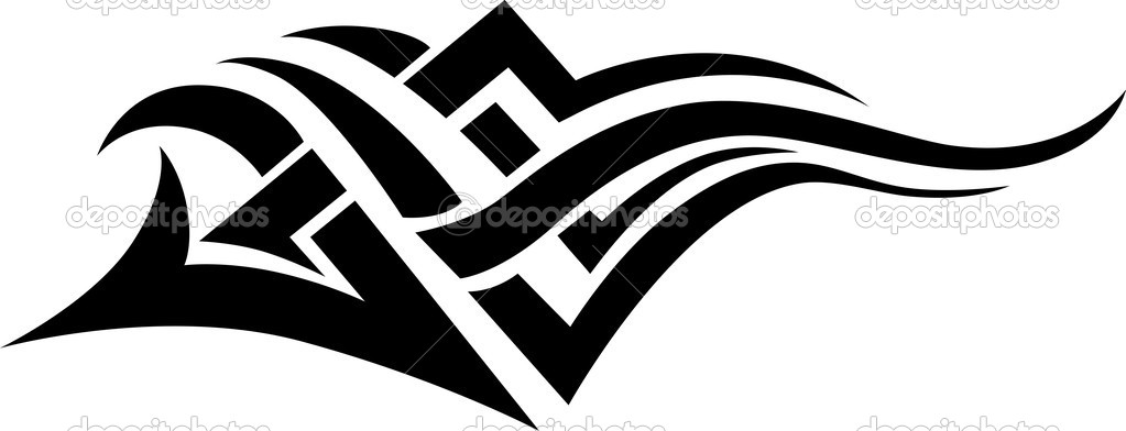tribal tattoo stock vector tallisman 2457262 rh depositphotos com tribal vector eps tribal vector designs