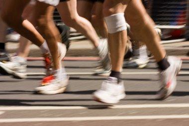 Injured marathon runner