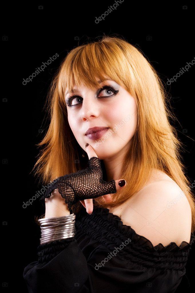 Gothic or emo girl — Stock Photo