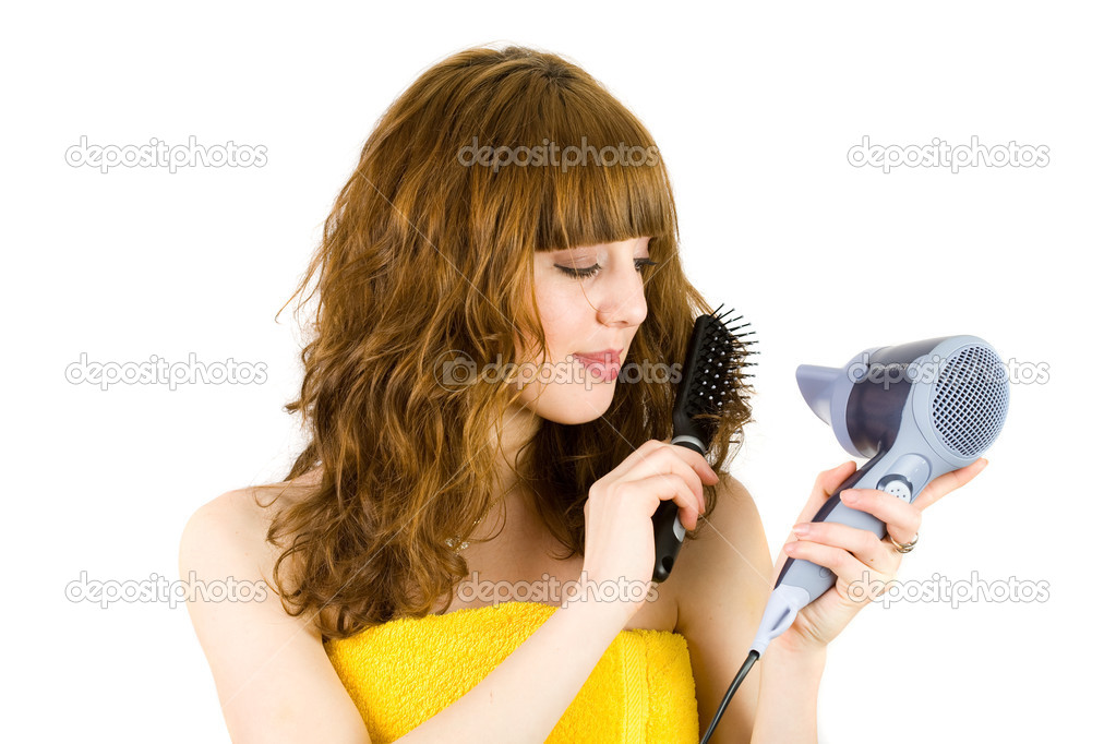 blonde girl using vibrater