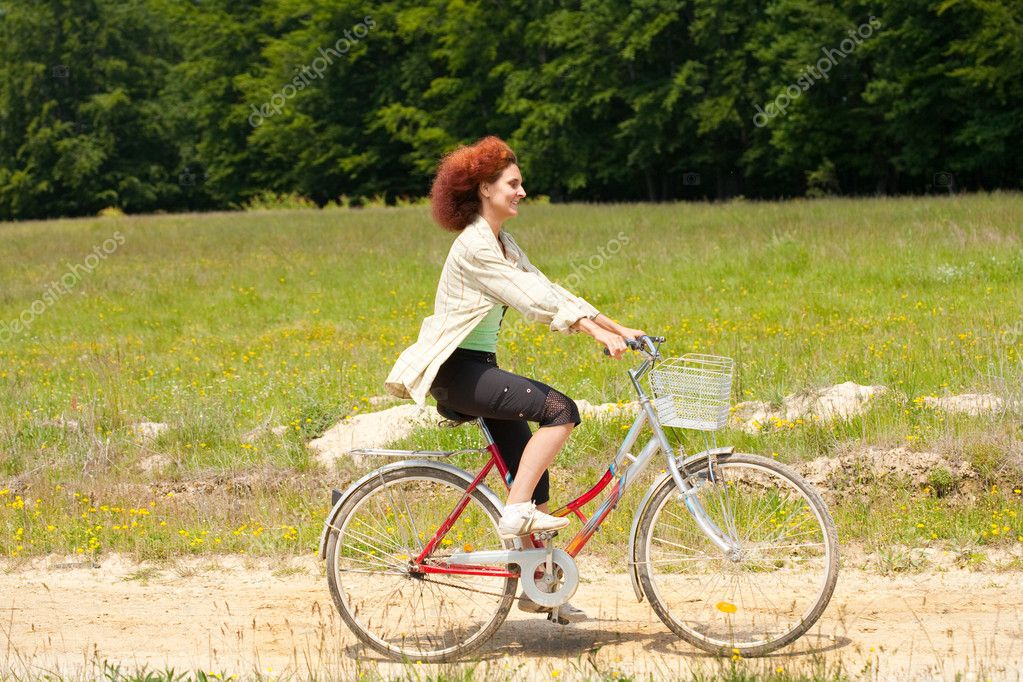 Woman with bike