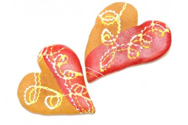 Heart shaped cookies isolated