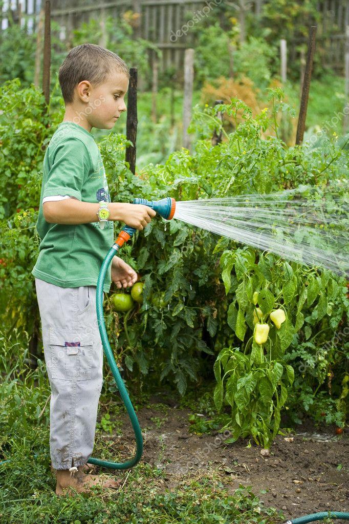Little gardener at work