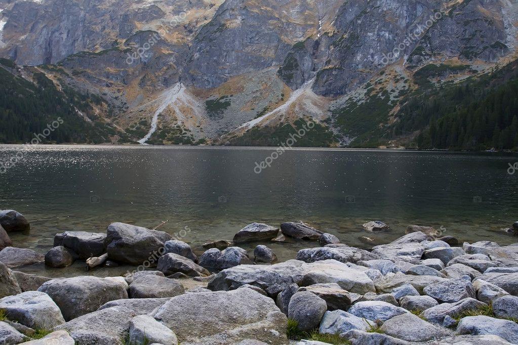 Lake in polish Tatra mountains