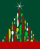 vánoční stromeček příbory