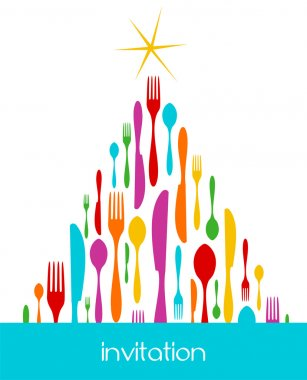 Christmas Tree Cutlery Pattern