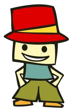 Funny kid cartoon character