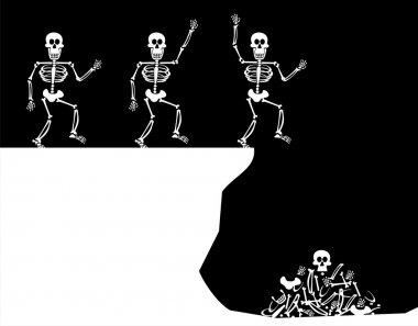 Halloween Greetings. Skeleton Jump