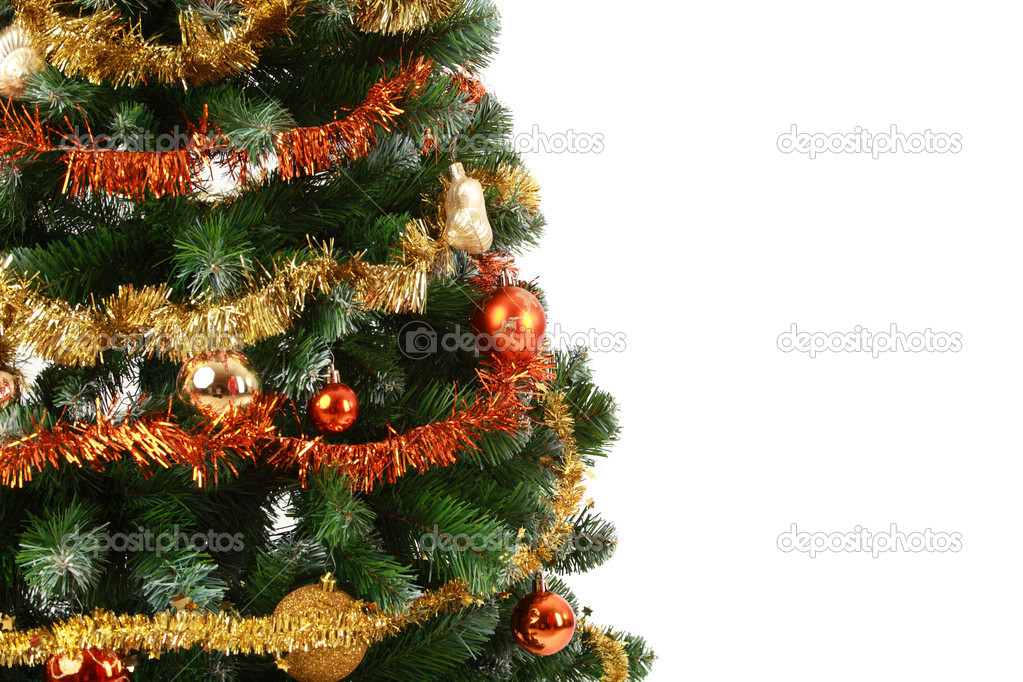 Christmas tree with copy space