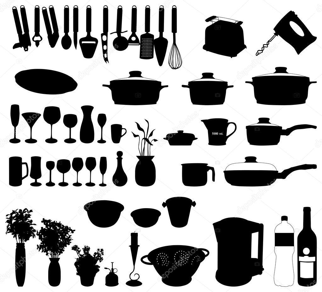 cucina oggetti, impostare — Vettoriali Stock © lakalla #2037487