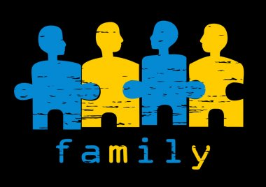 Illustration of family; concept of harmo