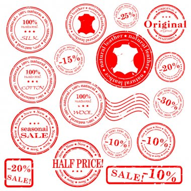 Sale stamp vector set