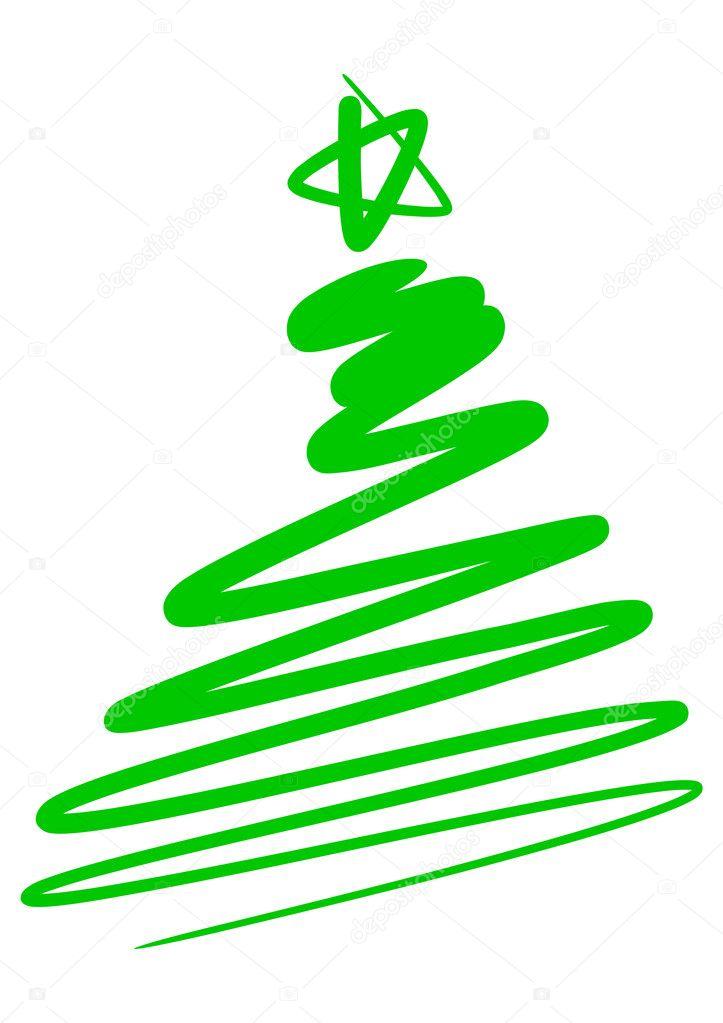 dibujo abstracto rbol de navidad simple vector de stock - Dibujos Arboles De Navidad