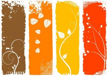 Autumn vertical banners - set